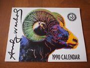 Vintage Andy Warhol Authorized Official1990 Calendar 13 Month Art Photos Rare