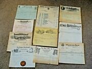 Antique Invoices Whips Seed Separator Stoves Washing Mach Keen Kutter Tyndall Sd