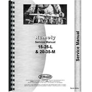Service Manual For Rumely 15-25-l Oil Pull Tractor