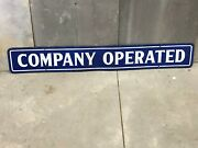 Vintage Company Operated Sign Dsp Double Sided Porcelain Gas Oil Old Advertising