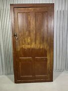 Antique Primitive Red Painted Cupboard Farmhouse Cabinet With Shelves