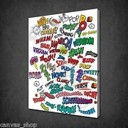 Comic Book Design Funky Kids Wall Art Canvas Print Picture Ready To Hang
