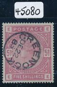 Sg 176 5/- Rose On Blued Paper. A Very Fine Used Example Cancelled With...