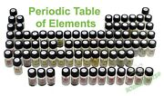 Set Of 82 Periodic Table Elements In Professional Looking Labeled Glass Vials