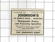 1958 Johnson's Photographic Processing Specialists Queens Road Brighton