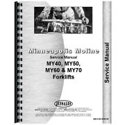 New Service Manual Made For Minneapolis Moline Forklift Model My60