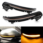 Smoked Led Dynamic Side Mirror Turn Signal Sequential Light For Audi A6 S6 C7