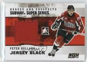 2009-10 Itg Heroes And Prospects Jersey Black Bossa Calgary 1/1 Peter Holland