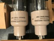Lot Of Two 2 Chatham Jan Cahg 5r4wga Military Rectifier Vacuum Tube Nos