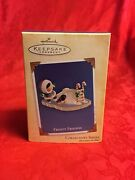 Hallmark 2004 Frosty Friends 25th Slippery Ride Penguin Candy Canes