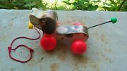 1965 Fisher Price Little Snoopy Wood Wooden Pull Play Toy Childs Kids Dog 693