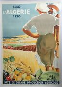 Poster Mounted Algeria Land Large Production Agricultural Dormoy 73x104 1929