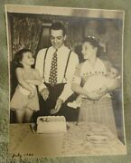 1943 Original Lou Boudreauand039s Birthday Family Photo Cleveland Indians