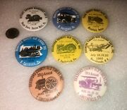 8 Vintage Tractor And Machinery Show Pinback Buttons