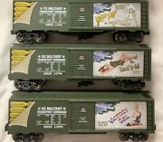 ✅menards Hot Girls Us Army Nose Art Wwii Box Car Set W/ Lionel Type Couplers