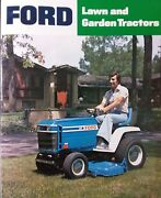 Ford Lgt 100 120 125 145 165 Lawn Garden Tractor Color Sales Brochure Manual And03978