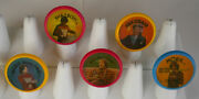 Complete Set Of 5 Mork And Mindy Flicker Flasher Rings