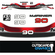 Mariner 90hp 2 Stroke Outboard Decals/sticker Kit