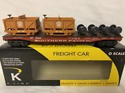 ✅k-line Scale Southern Pacific Flat Car And 2 Ore Cars New