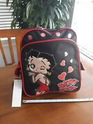 Betty Boop 12x12 Backpack Black Red