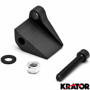 Black Right Mirror Relocation Adapter For 1996-2014 Harley Davidson Motorcycles