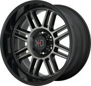 20 Inch Black Gray Wheels Rims Lifted Ford F150 Truck 6x135 Xd Xd850 Cage 20x10