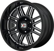 22 Inch Black Wheels Rims Lifted Ford F150 Truck 6x135 Xd Xd850 Cage 22x10 New