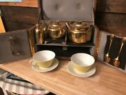 Maison Maquet Of Paris Traveling Tea-set For Two Persons, Early 1900's