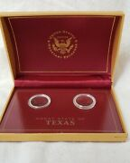 Texas Us Monetary Exchange State Quarter Commemorative Boxed Set P And D