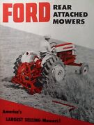 Ford Agricultural Tractor 501 Rear Sickle Mower Sales Brochure Catalog Manual