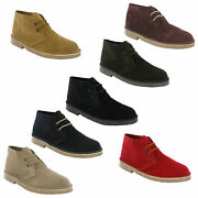 Roamers Desert Boots 2 Eye Mens Boys Real Suede Leather Round Toe M467 Uk 3-12