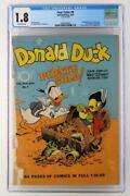 Four Color 9 - Cgc 1.8 Gd- Dell 1942 - 1st Donald Duck By Carl Barks
