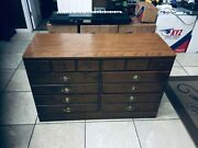 Bedroom Storage Dresser 6 Drawers With Cabinet Wood Size 48 X 18 1/2 X30 Inches