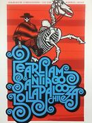 Pearl Jam - 2013 Ames Bros Poster Santiago Chile Lollapalooza S/n