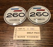 Gas Tank Badge Set For Benelli / Wards Mojave 260cc Scrambler - New Old Stock