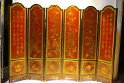 Oriental Furniture 78 High Wooden Screen Antique Finished