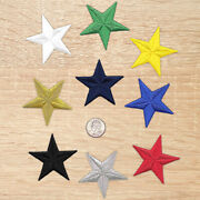 2.5 Inch Embroidered Iron On Star Patches-sold Separately-diff. Colors-usa-1029
