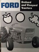 Ford Orchard And Vineyard Tractor 5000 4000 3000 Sales Brochure Catalog Manual