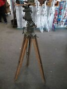 Vintage Wwi-wwii Artillery Scope Tripod Stand - Used