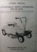Sears Craftsman 26 Riding Lawn Mower 6 Hp Tractor 131.8283 Owner And Parts Manual