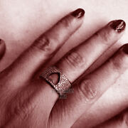 Vintage Style 2.90ct Genuine Old Mine Rose Cut Diamond Silver Heart Ring Jewelry