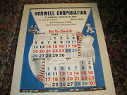 1959 Boston Red Sox Schedule Calendar,huge 25 By 20,pick-up Onlyrarenew Engl