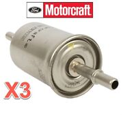 3 In-line Fuel Gas Filters Motorcraft Oem Fg1083 For Ford Mercury Lincoln