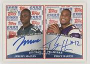 2009 Topps Premiere Dual Jeremy Maclin Percy Harvin Rpda-mh Rookie Auto