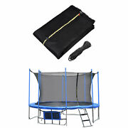 12/13/14/15ft Round Trampoline Enclosure Net Replacement 4 Arch For 8 Pole Fence