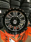 4 New Xf Off-road 20x9 Wheels Xfx-303 Black Milled Flow Forged 6 Lug Ford Chevy