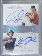 2019 Panini Flawless Dual Signatures /25 Forrest Whitley Kyle Tucker Auto