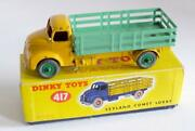 Dinky Toys417 Leyland Comet Lorry With Skate Body Yellow / Green Boxed