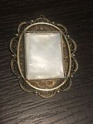 Rare Antique Sterling Silver Filigree Decorated Pendant-made In Palestine