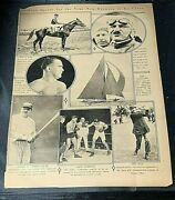 New York Times Mid-week Pictorial Pages 1920 Babe Ruth Baseball Sports Scrapbook